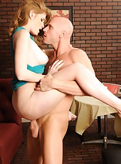 Tenderness lady Faye Reagan gets on the big cock in elegant dress