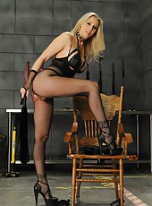 Amazing blonde milf Julia Ann needs a young boy with huge cock for a hot femdom
