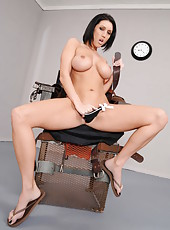 Dylan Ryder peels off her uniform showing her great boobs and sweet ass