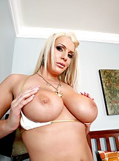 Blue eyes blonde milf with beautiful blue eyes and big natural boobs Sadie Swede