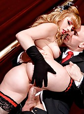 Appetizing milf Lexi Belle gets fucked in her super sexy black stockings