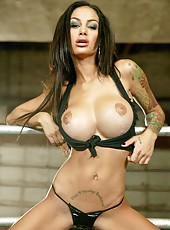 This tattooed and busty milf named Angelina Valentine has many hot things to show you