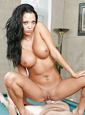 Black haired bombshell named Malezia look amazing and enjoys hardcore actions