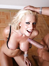 Blonde milf with huge breast Tanya James looks amazing in every position