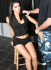 Buxom milf Cassandra Cruz fucked by bad boys right in the office