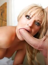 Busty blonde Brooke Belle gets her doctor