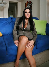 Hot brunette bitch Audrey Bitoni spreads her sexy legs for a great porn scene