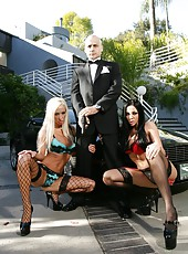 Boss Ben English and his busty milf sluts Audrey Bitoni and Lichelle Marie