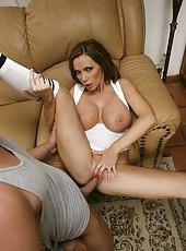 Ambitious and flexible bombshell with big tits Nikki Benz fucks amazingly
