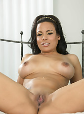 Sweet black haired chick with big tits Luna Star shows off her fantastic ass