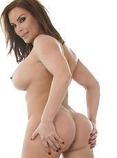 Busty bombshell with big tits and mesmerizing eyes Diamond Foxxx poses naked