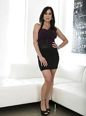 Brunette milf Kendra Lust willingly peels off her gorgeous lingerie