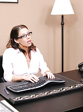 Big titted milf Angel got a big dick right at her workplace