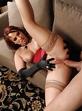 Fantastic redhead milf with big boobs Nicki Hunter presents a luxury fuck