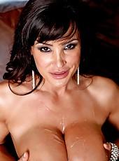 Playful pornstar Lisa Ann loves to make deepthroats and enjoys deep anal fuck