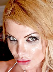Crazy whore Taylor Wane getting a cumshot after fucking with her neighbor