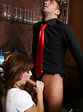Hot milf Deauxma enjoying an awesome anal sex and making her pussy wet