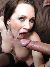 Pretty mature RayVeness showing hairty pussy and pleasing her husband