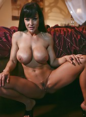 Spectacular minx Lisa Ann playing with big tits and getting nailed hard