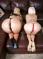 Diamond Foxxx and Phoenix Marie playing with big tits and pleasing each other