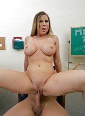 Curvy babe Devon Lee using big tits to seduce and fuck sexy fellows