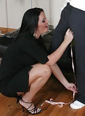 Wonderful skinny milf babe Maya Devine is being teased by her beautiful man
