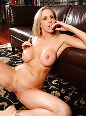 Elegant and sweet babe Julia Ann spreads her legs for an awesome fuck