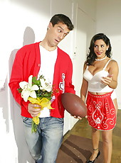 Pretty brunette girl Raylene fucks with her new boyfriend and gets pleasure