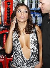 Perfect brunette slut Francesca Le gets a cock in the tight asshole