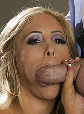 Glamorous secretary Tasha Reign knows how to turn on her boss