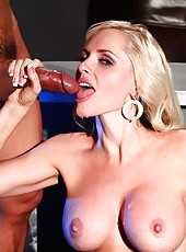 Blonde Alena Croft was playing with her favorite toys when Asian boyfriend come in