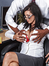 Sexy mature bombshell Shay Sights and her black colleague with a big cock