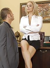 Busty secretary Sarah Vandella meets her boss