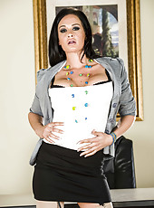 Gorgeous milf with black hair and big tits named Tory Lane poses naked