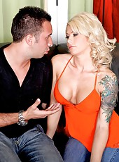Marvellous blonde bombshell Brooke Haven facialized after hardcore fucking scene