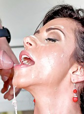 Crazy hot milf with big boobs Ariella Ferrera fucked hardcore near the piano