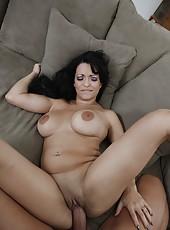 Curvy brunette milf Mason Storm enjoys hardcore fucking with her neighbour