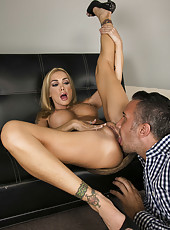 Excellent tattooed milf Devon has super sweet time with her co-worker