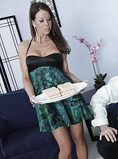 First-class mature bombshell Tabitha Stevens and her handsome lover
