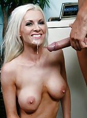 Glamorous and gorgeous Brandi Edwards seduces happy mayshag man with powerful dick