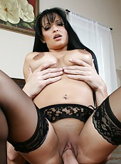 Brunette milf with huge tits Mason Storm gets her pussy licked and pounded