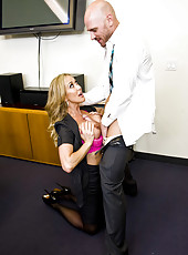 Hardcore fuck with a naughty secretary whose name is Brandi Love