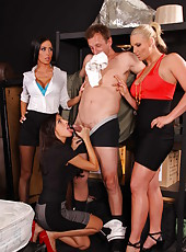Crazy foursome with Jessica Jaymes, Kortney Kane and Phoenix Marie