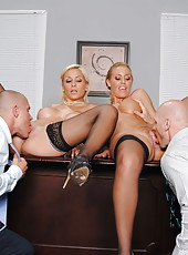 Hardcore foursome with Lexi sexy ladies named Swallow and Nicole Aniston
