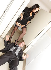 Amazing Asian babe Katsuni got the biggest dick in her life right at the workplace