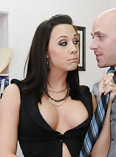 Marvellous babe Chanel Preston was working in the office when she got her colleague