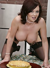 Unforgettable brunette milf Felony Foreplay with super sexy face, big round boobs and hot ass