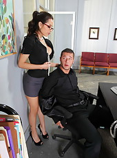 Ambitious secretary with hot boobs Yurizan Beltran fucked by a big cock today