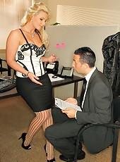Mesmerizing blonde milf with huge breast Phoenix Marie fucked in amazingly hot stockings