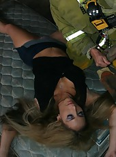 Hot rescuer got the most exciting dream reward - busty and horny milf Savannah Jane